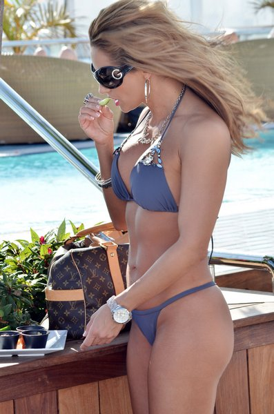 Jennifer Nicole Blue Thong Bikini The Bikini Police