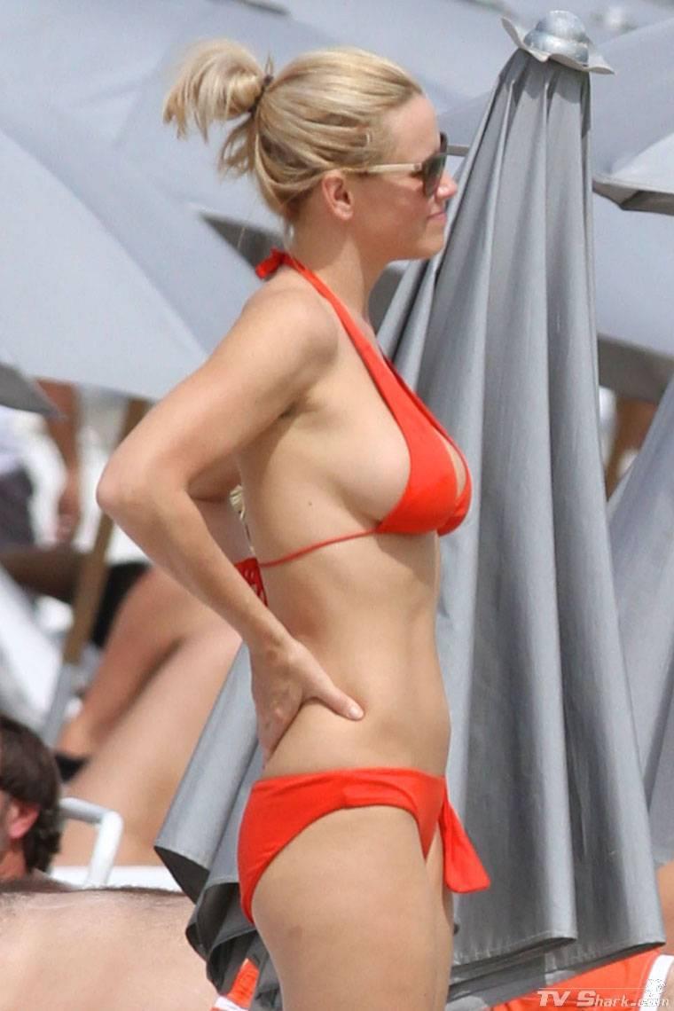 Jenny Mccarthy Red Bikini The Bikini Police
