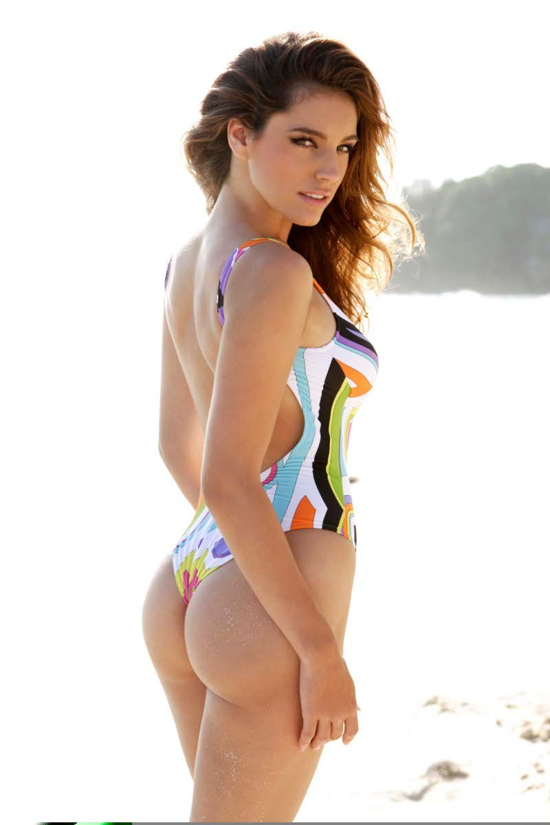 Kelly Brook Thong One Piece Tonga The Bikini Police
