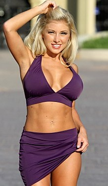 Bikinis for Women Over 40 Eggplant Skirted with Beautiful Halter Top
