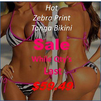 44bd2cbb0b This sizzling zebra print tie size Tonga String-Zebra-Pritn-Tonga-Bikini -Sale
