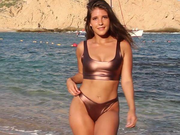 Bronze-Liquid-Metal-Thong-Bikini