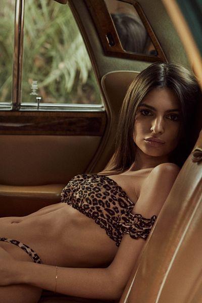 Emily Ratajkowski-High-Cut-Leopard-Print-Bikini