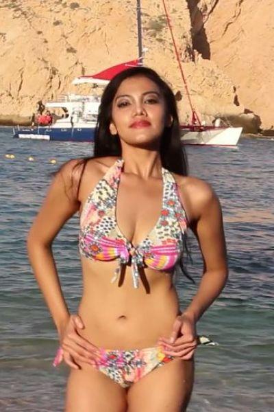 Halter-Top-Print-Rouched-Bikini
