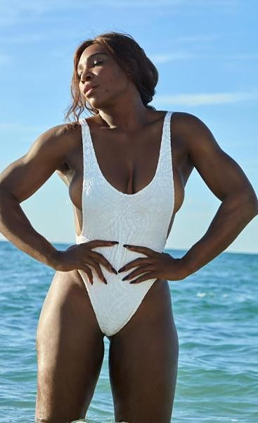 Serena-Williams-One-Piece-White-Thong-Swimsuit