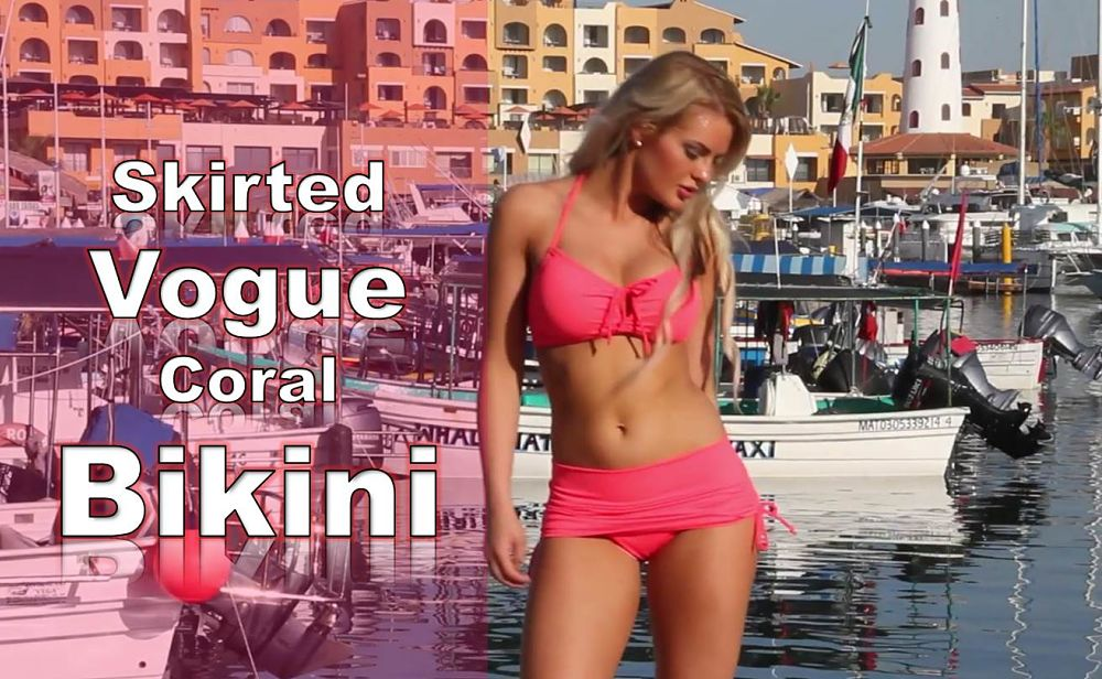 d25105866b Electric Coral Skirted Side Tie Bikini – A New Hot Look in Skirted ...