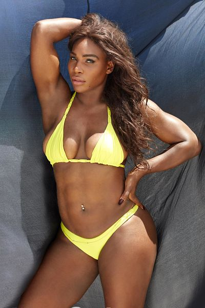 Wow-Serena-Williams-Yellow-Thong-Bikini